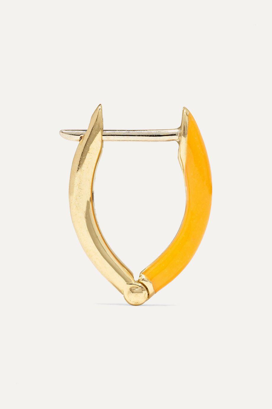 Melissa Kaye Cristina kleine Creolen aus 18 Karat Gold mit Emaille