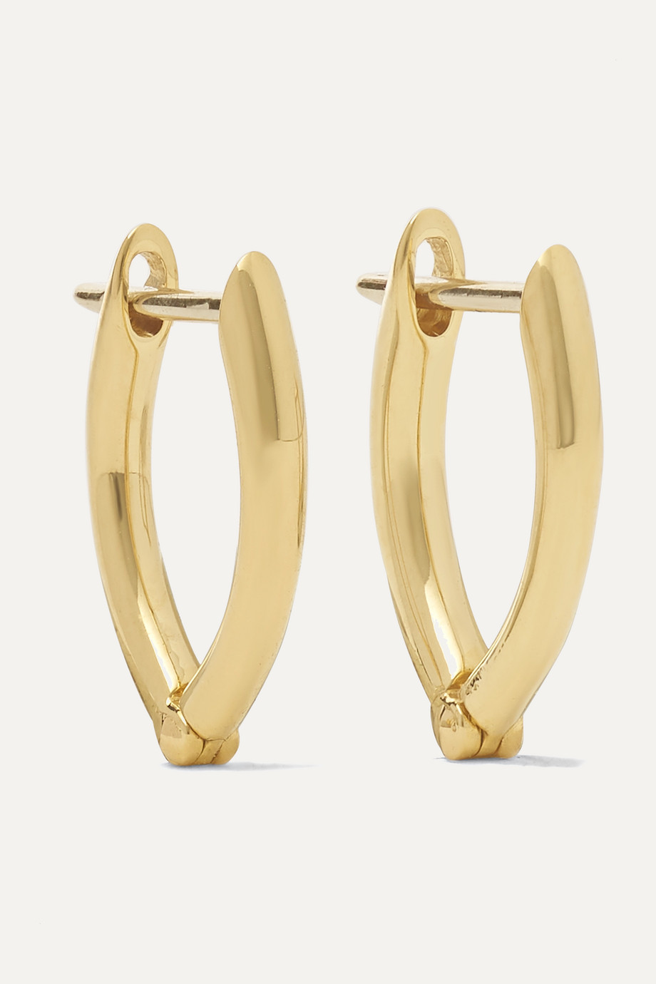 Melissa Kaye Cristina small 18-karat gold earrings