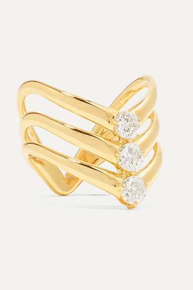 aria-triple-v-18-karat-gold-diamond-ring by melissa-kaye