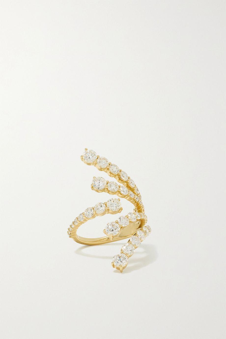 Melissa Kaye Aria Cascade 18-karat gold diamond ring