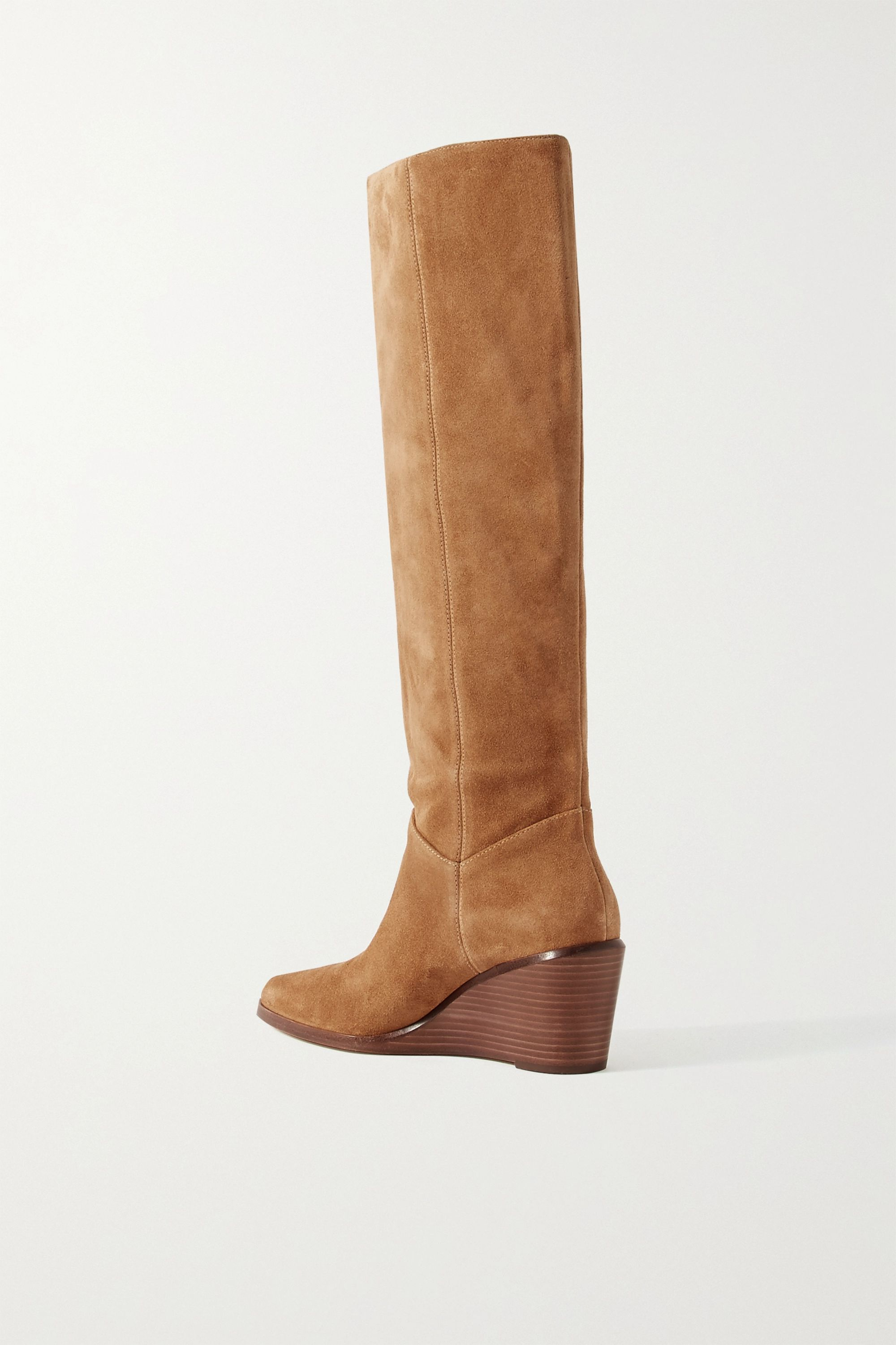 Vince Marlow suede wedge knee boots