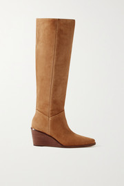 Marlow suede wedge knee boots