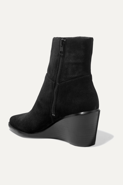 Black Mavis suede wedge ankle boots
