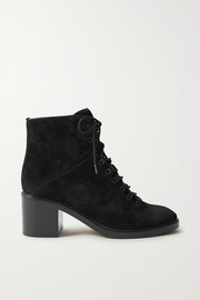 Vince Falco lace-up suede ankle boots