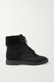 Hayes shearling-trimmed suede ankle boots