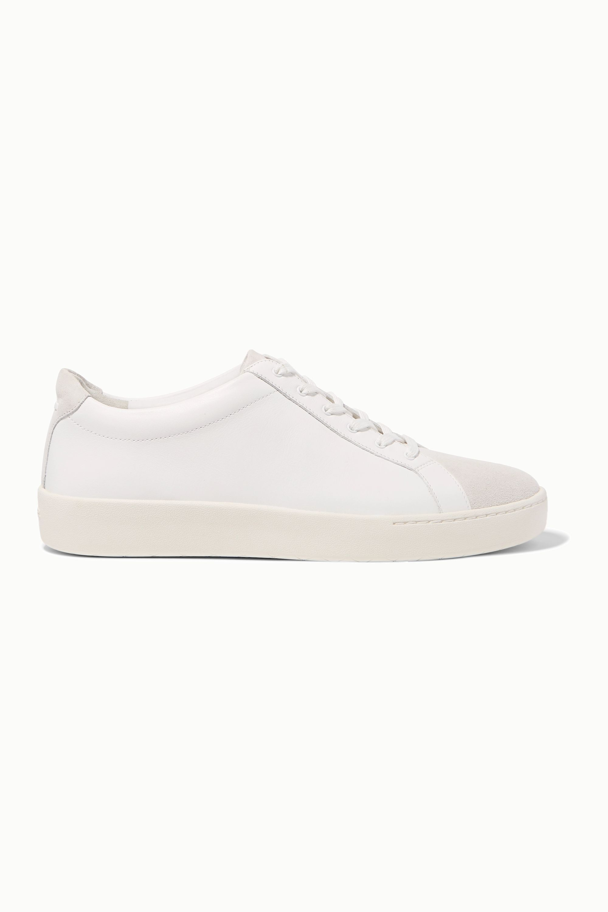 White Janna suede and leather sneakers