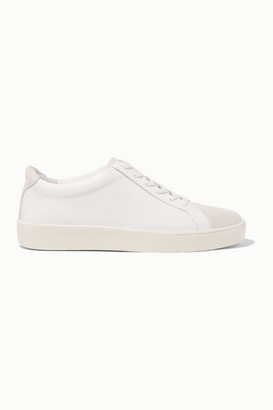 Janna Suede And Leather Sneakers by Vince
