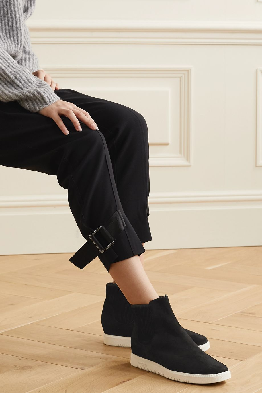 Vince Ilona suede high-top slip-on sneakers