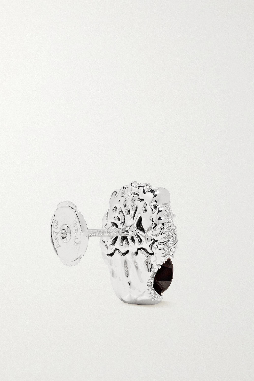 Gucci 18-karat white gold, diamond and garnet earrings