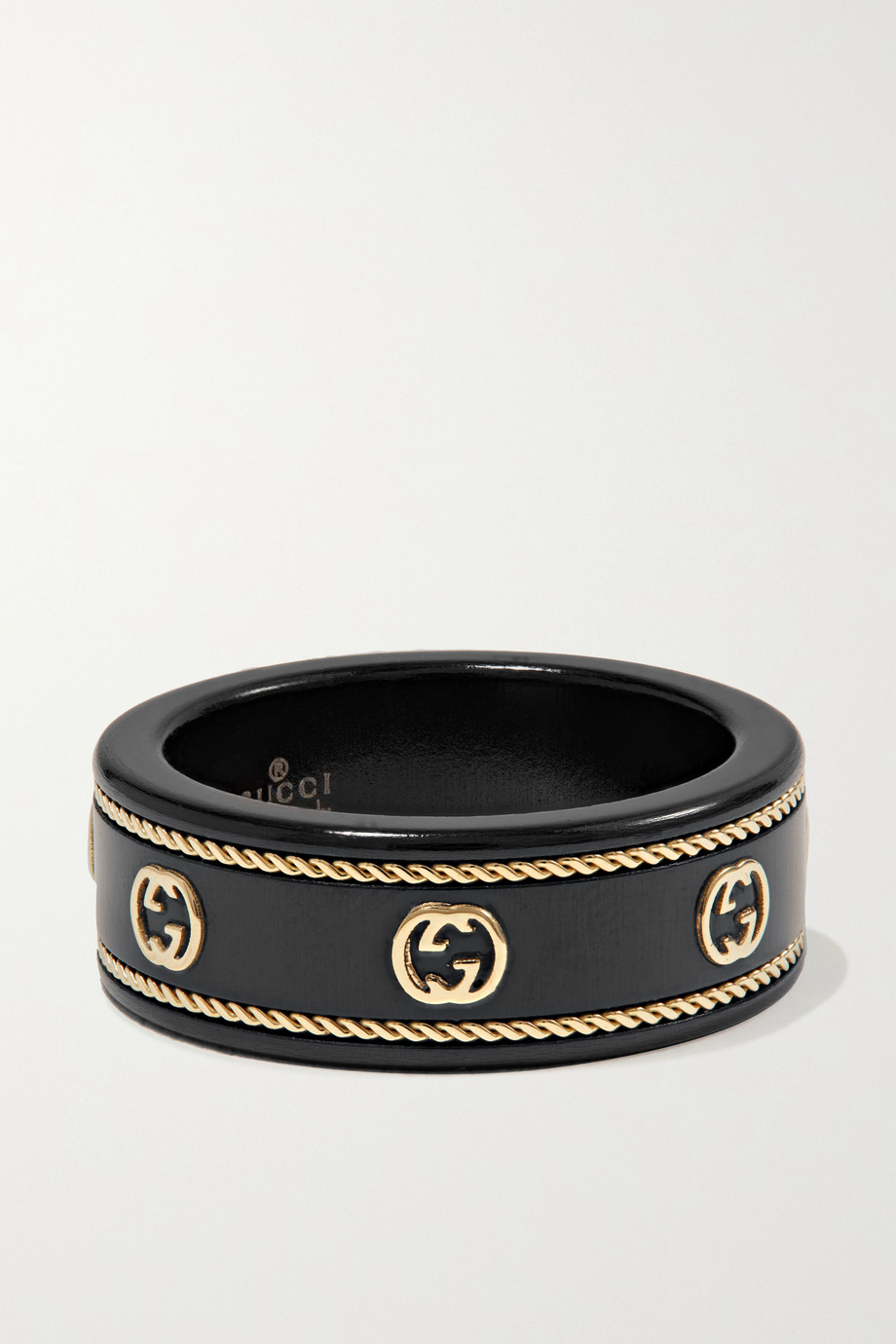 Gucci Icon 18-karat gold and crystal ring
