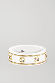 Gucci Icon 18-karat gold and zirconia ring