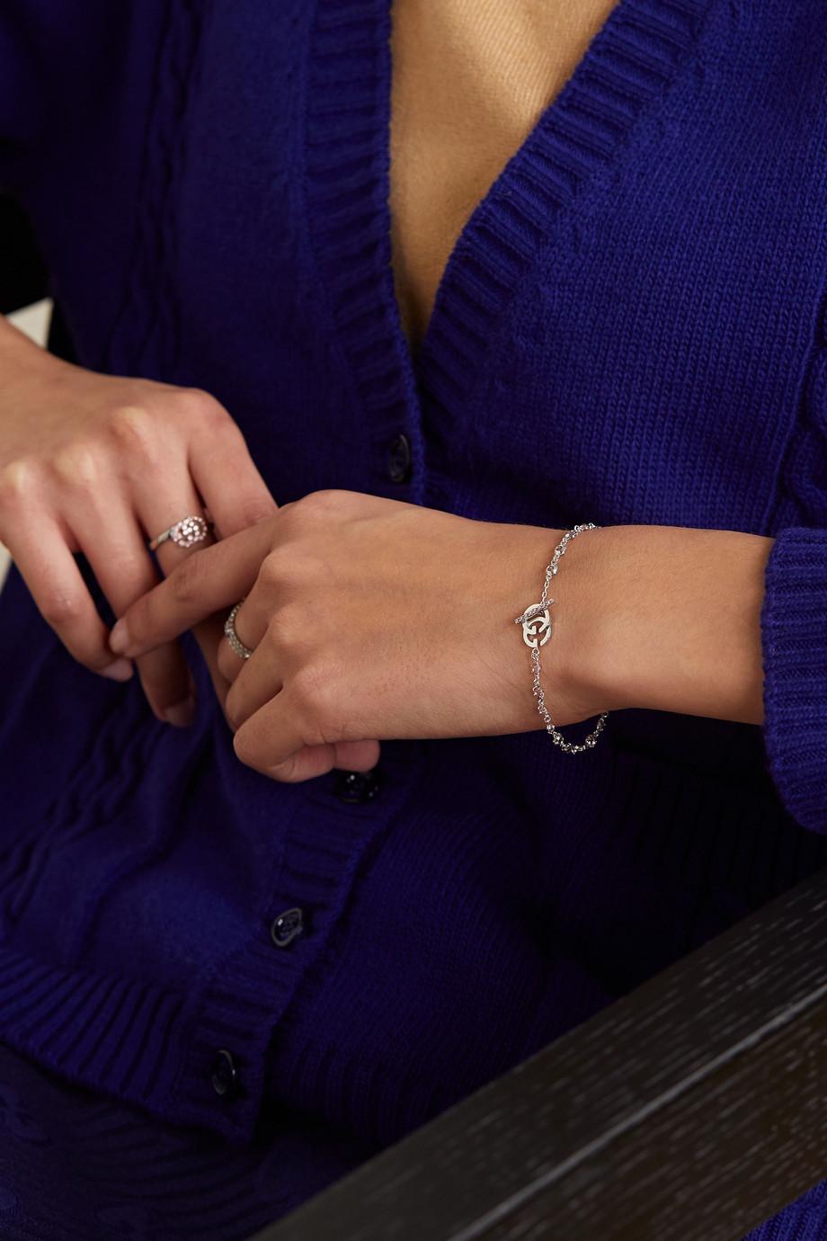 Gucci 18K 白金托帕石手链