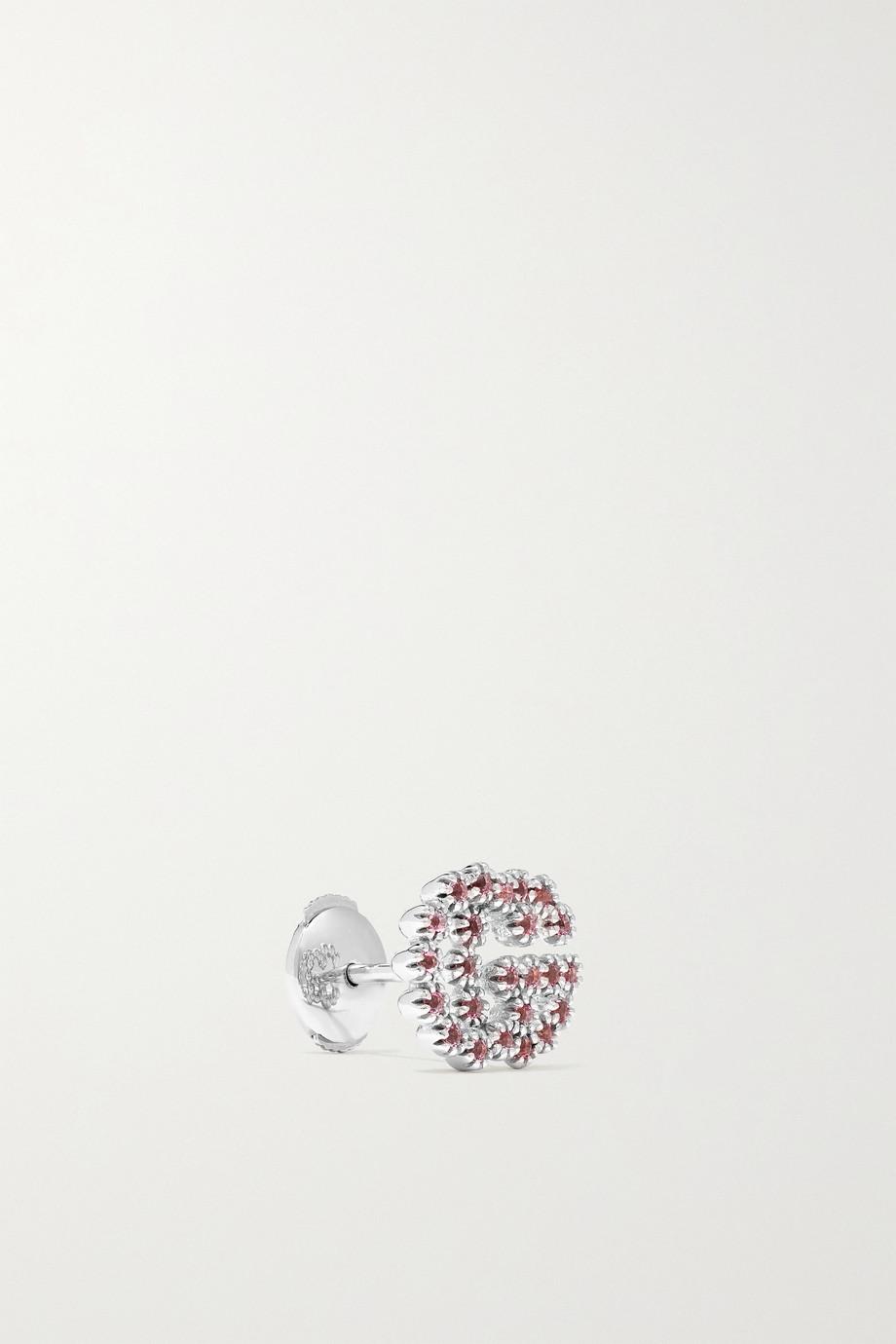 Gucci 18-karat white gold topaz earrings