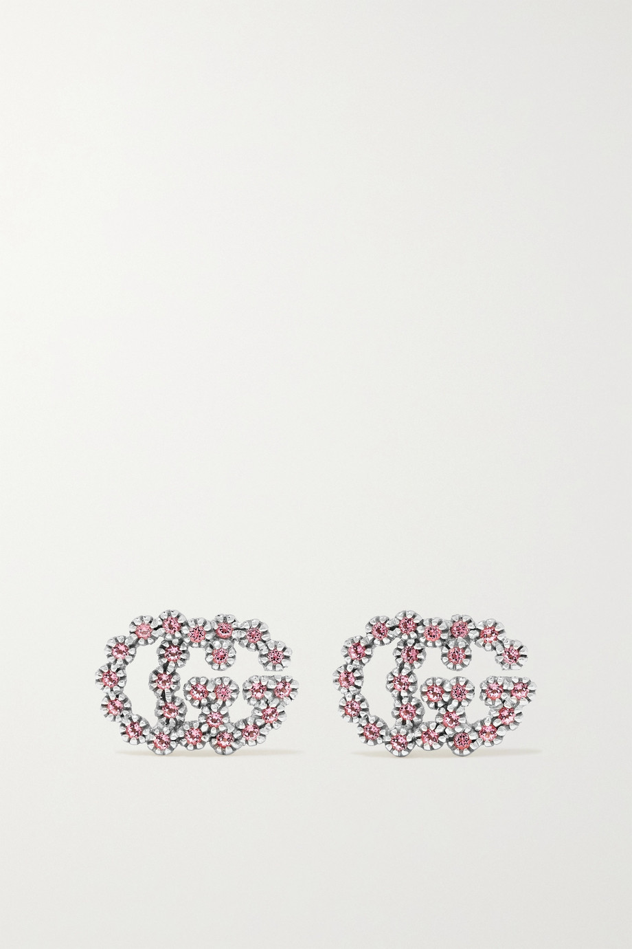 Gucci 18K 白金托帕石耳钉