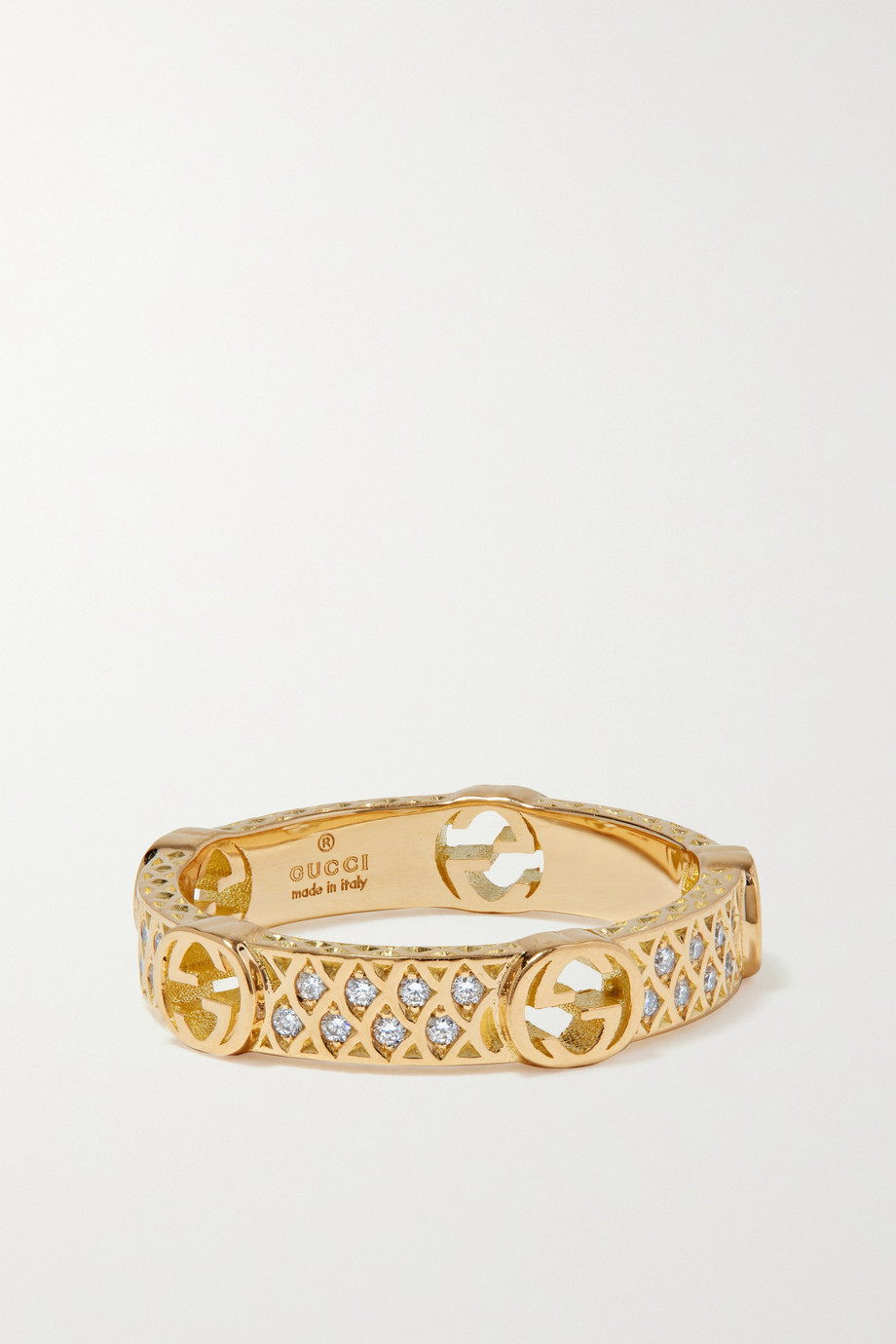 Gucci 18-karat gold diamond ring
