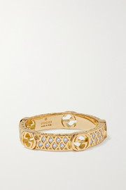Gucci 18-karat gold diamond ring