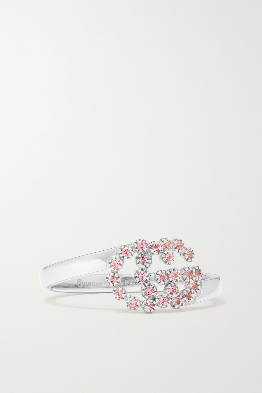 Gucci 18-karat white gold topaz ring