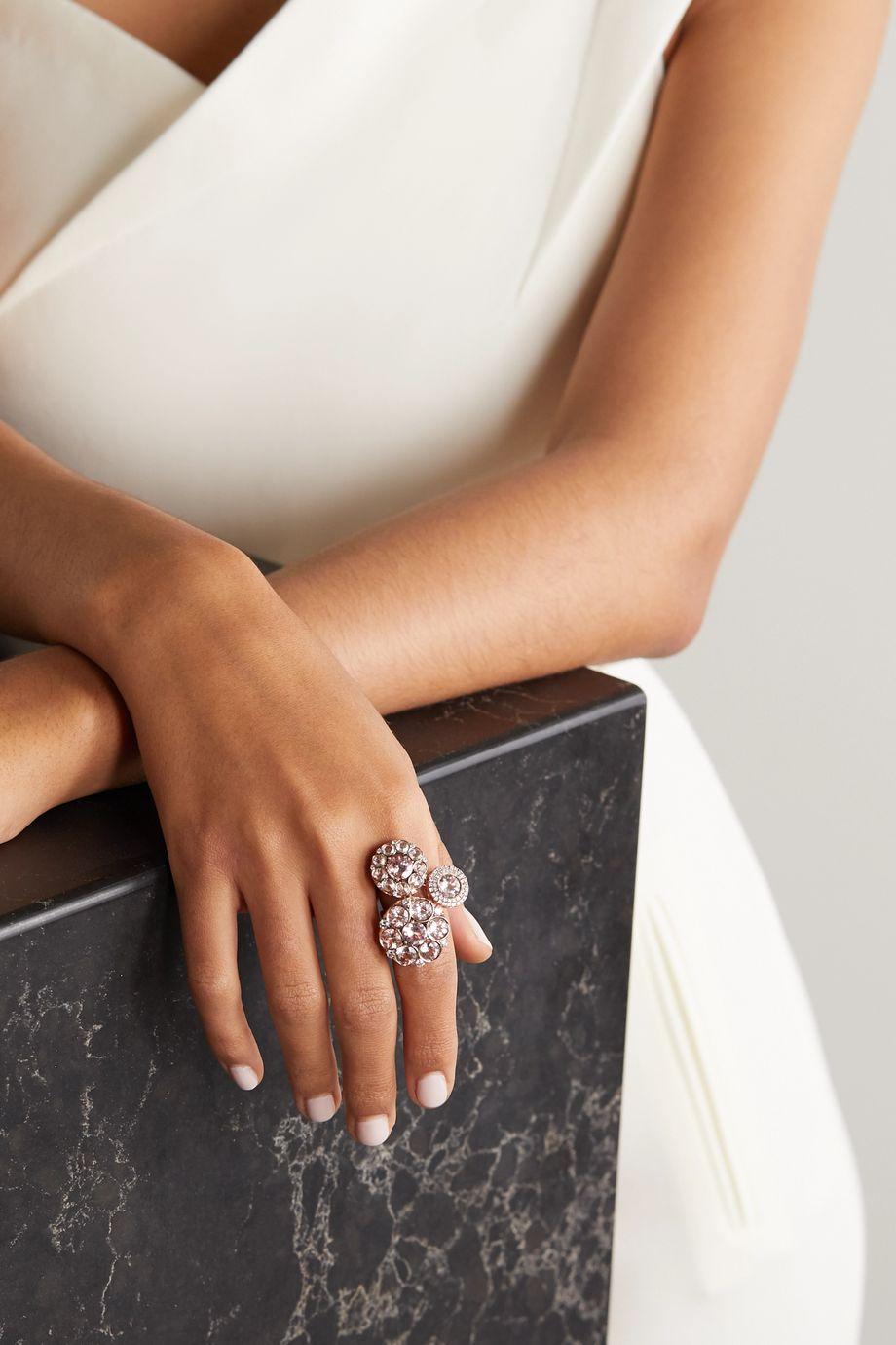 Selim Mouzannar Beirut 18-karat rose gold, morganite and diamond ring