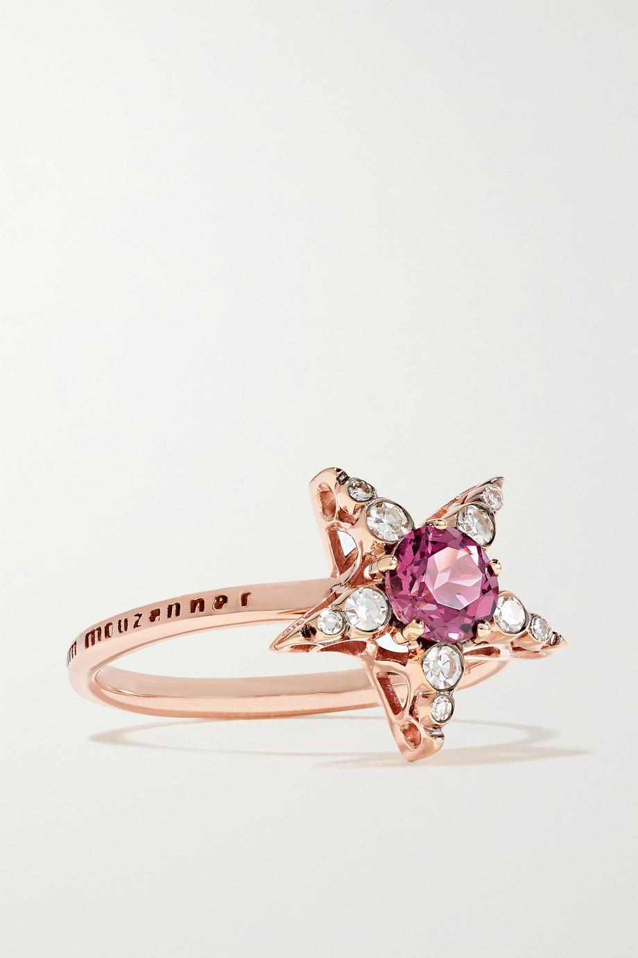 Selim Mouzannar Istanbul 18-karat rose gold, rhodolite and diamond ring