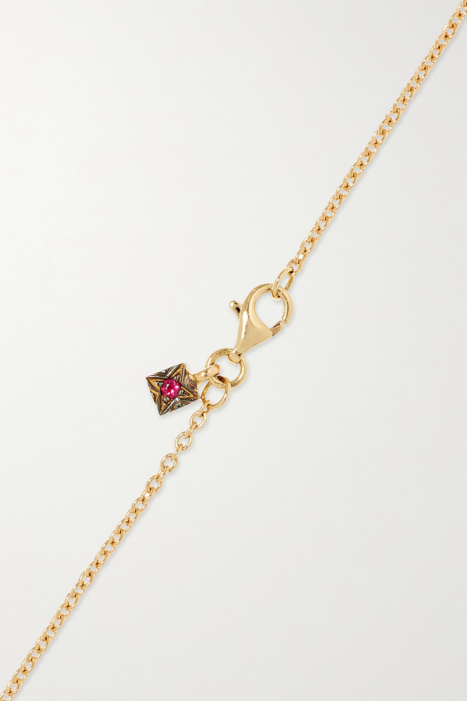 Gold Istanbul 18-karat Gold, Diamond And Rhodolite Necklace   Selim Mouzannar