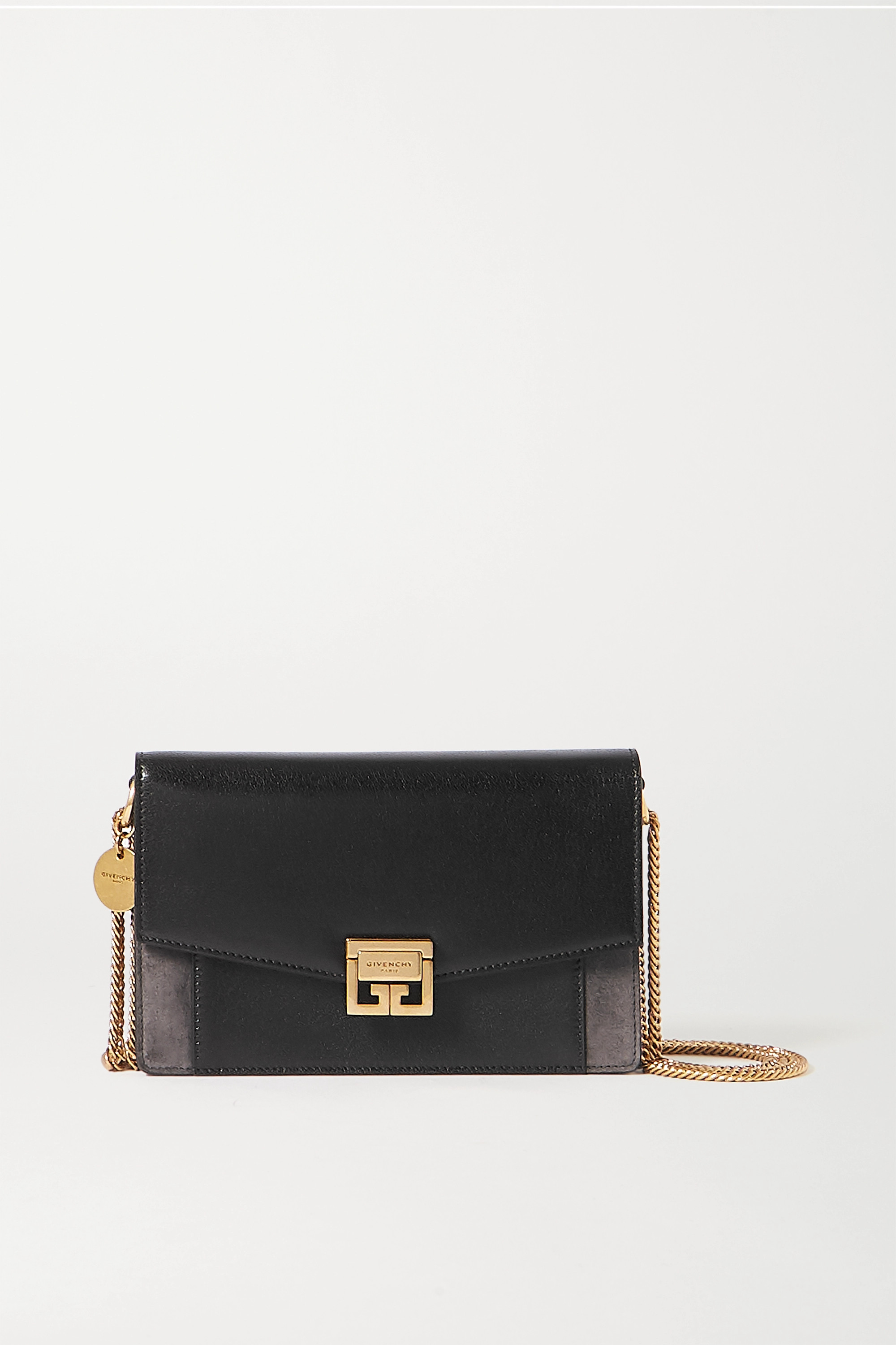 Givenchy GV3 textured-leather and suede shoulder bag