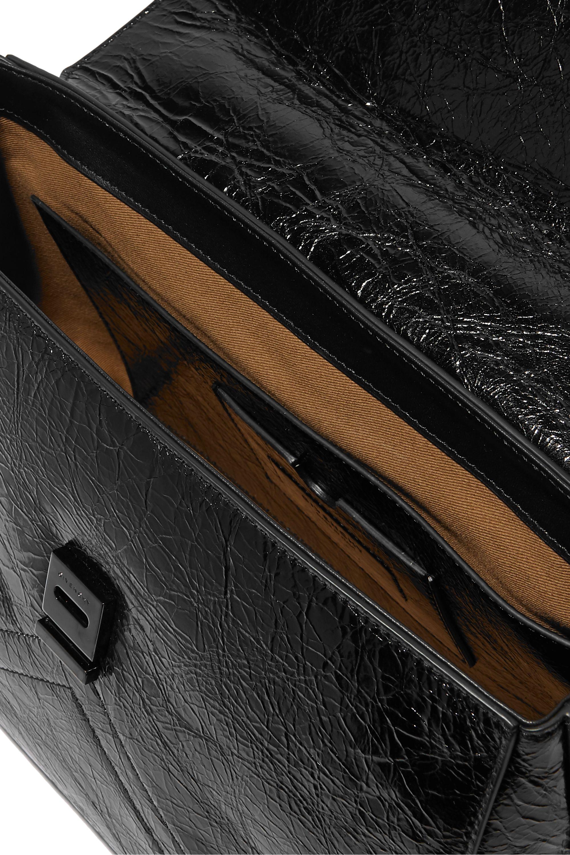 Givenchy ID 绗缝褶皱亮面皮革中号单肩包