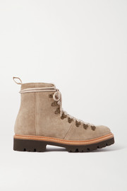 Nanette shearling-trimmed suede boots