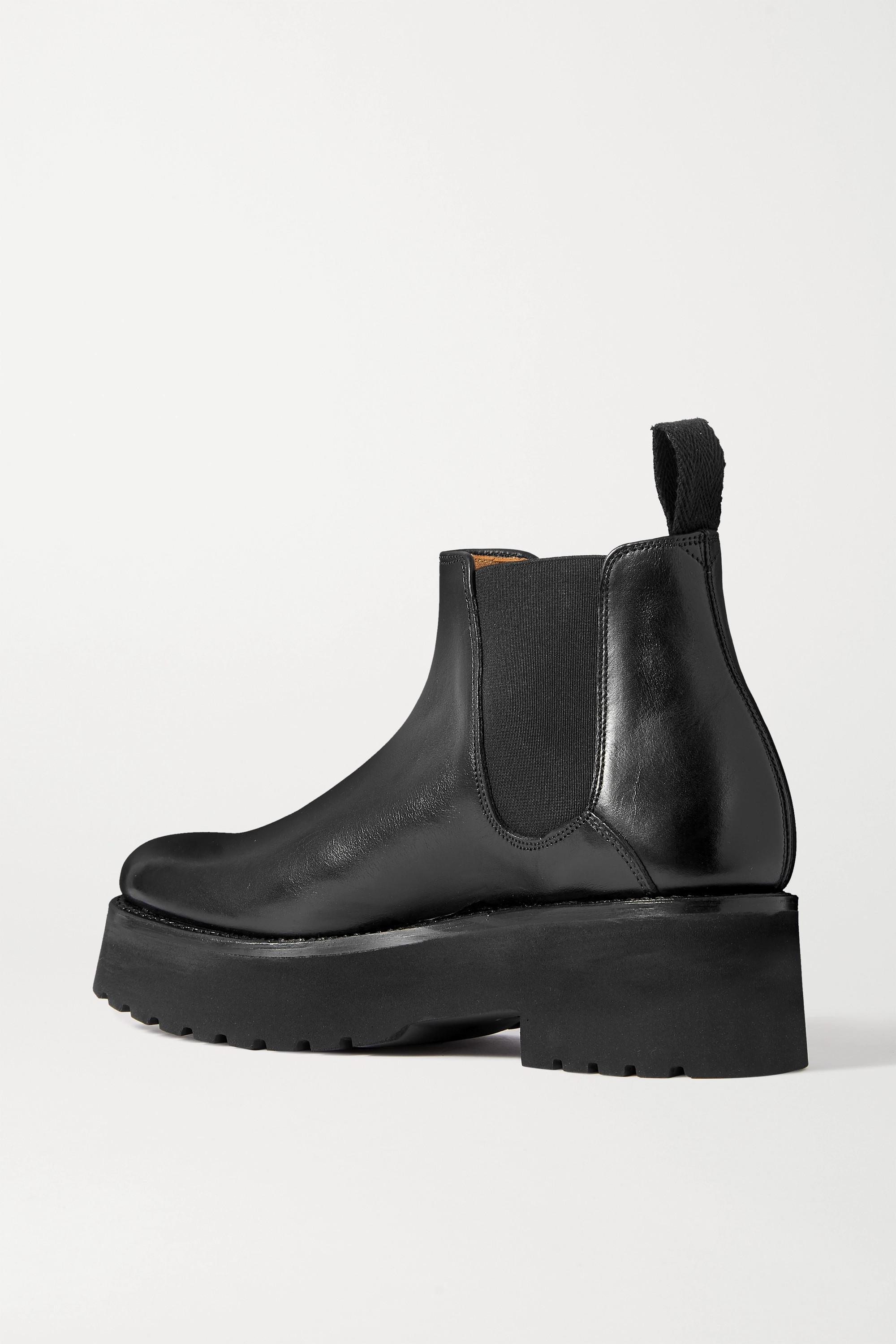 Grenson Naomi leather platform Chelsea boots
