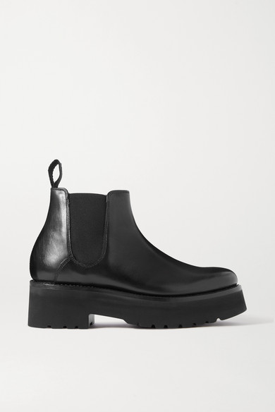 Grenson - Naomi Leather Platform Chelsea Boots