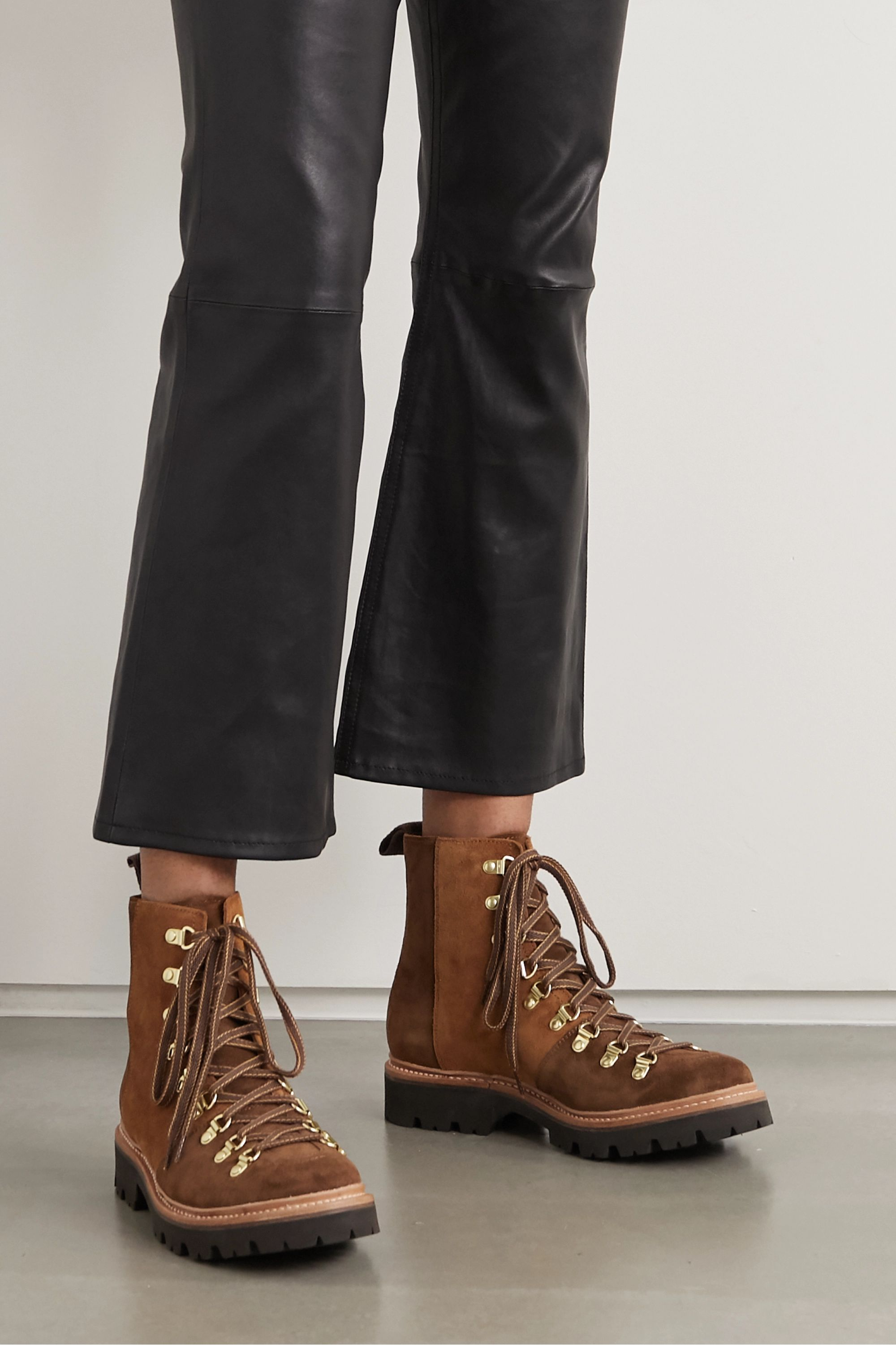 Grenson Nanette two-tone suede ankle boots