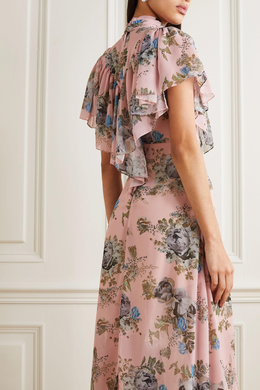 Preen by Thornton Bregazzi Ruffled floral-print georgette maxi dress