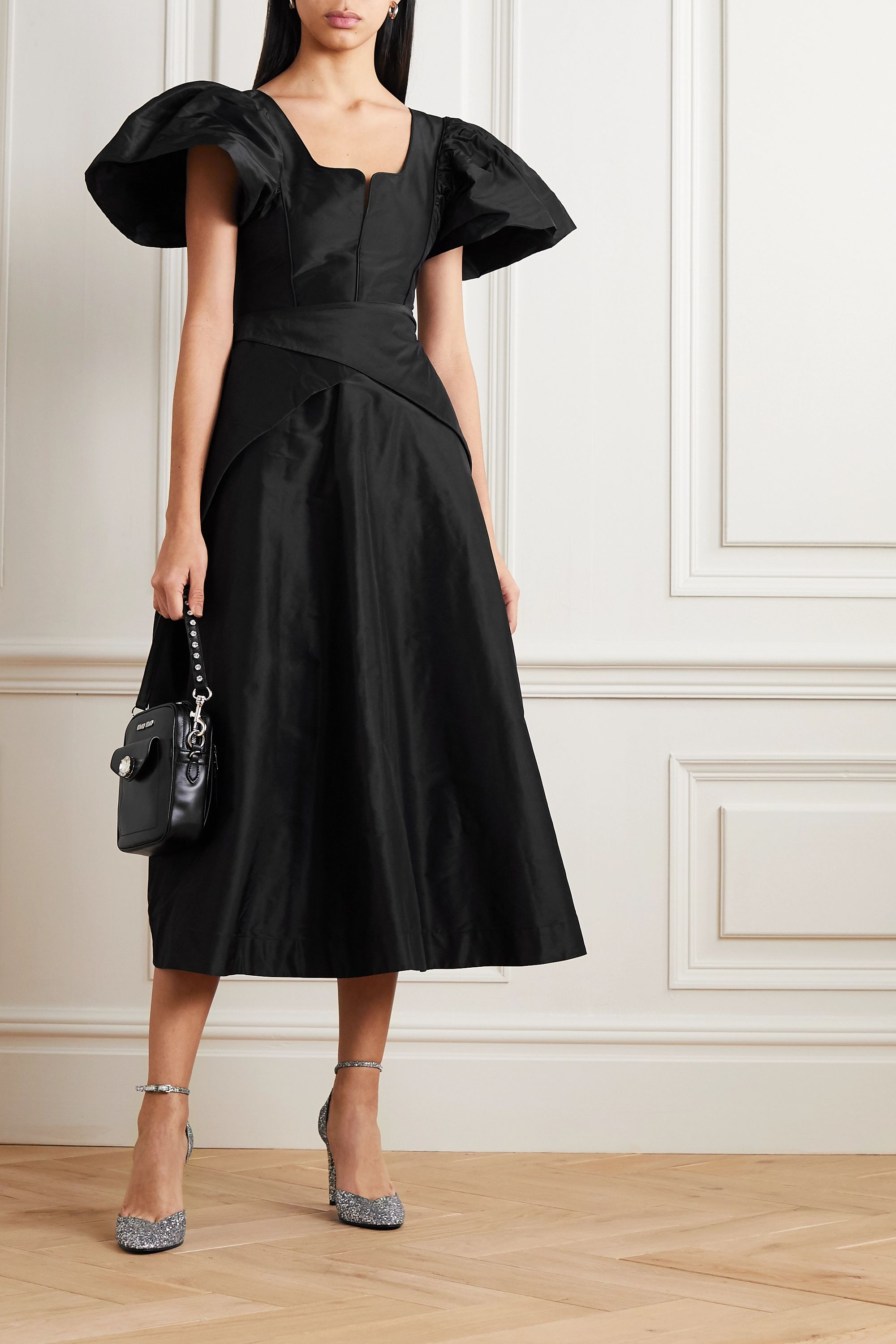Preen by Thornton Bregazzi Jayda silk-taffeta midi dress