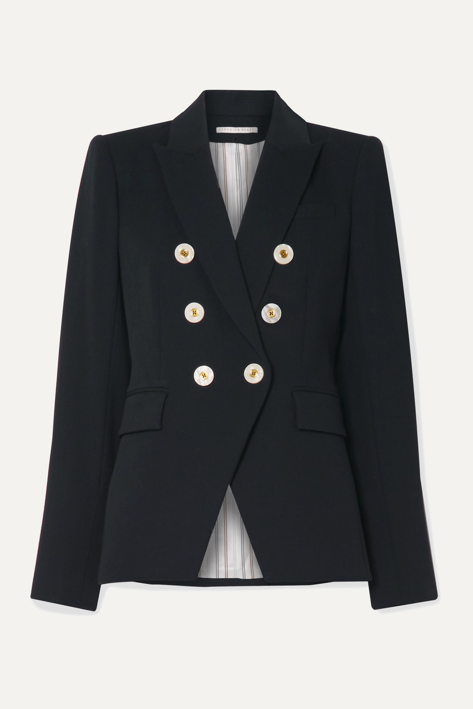 Veronica Beard Miller Dickey double-breasted crepe blazer