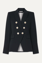 Miller Dickey double-breasted crepe blazer