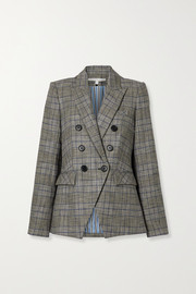 Veronica Beard Miller Dickey double-breasted checked tweed blazer