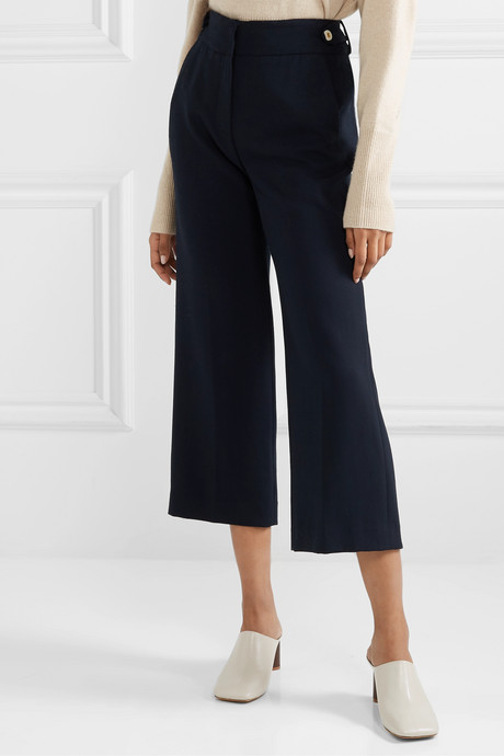 Aubrie cropped cady straight-leg pants