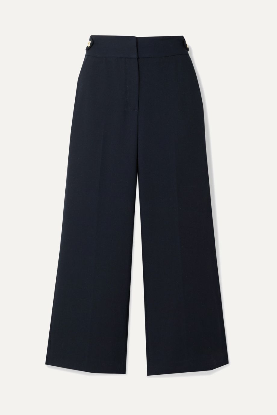 Veronica Beard Aubrie cropped cady straight-leg pants