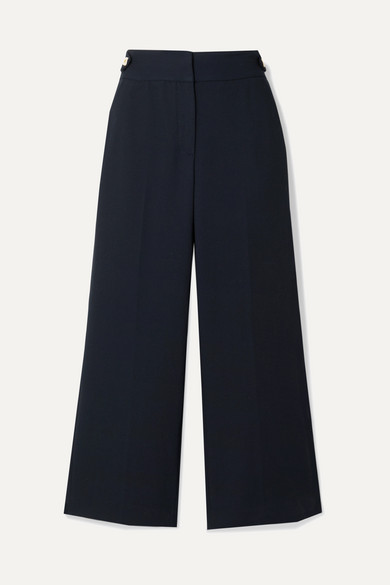 Veronica Beard Knits AUBRIE CROPPED CADY STRAIGHT-LEG PANTS