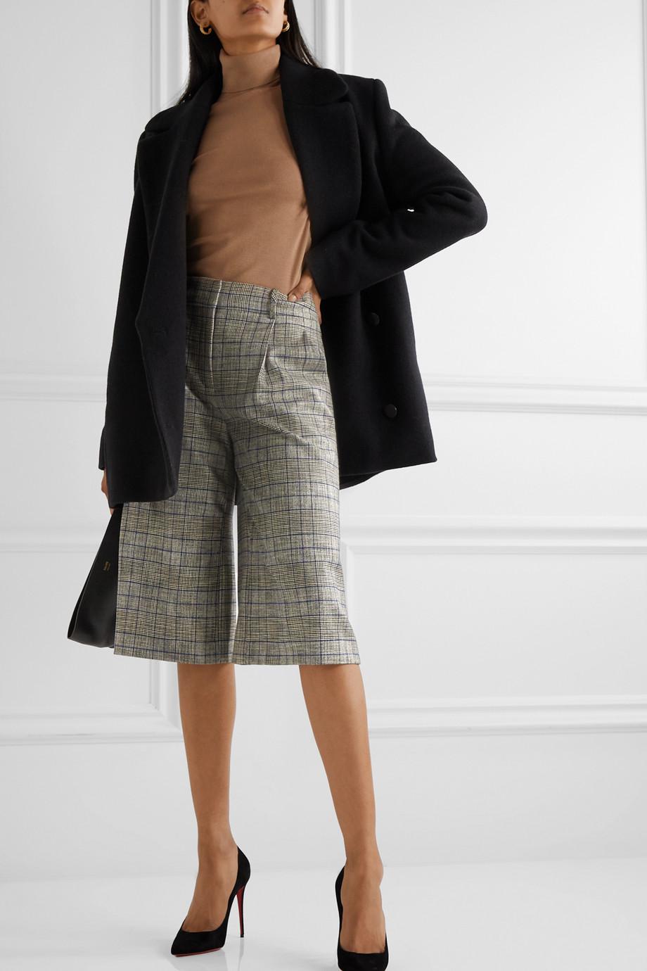 Veronica Beard Jupe-culotte en tweed à carreaux Fernanda