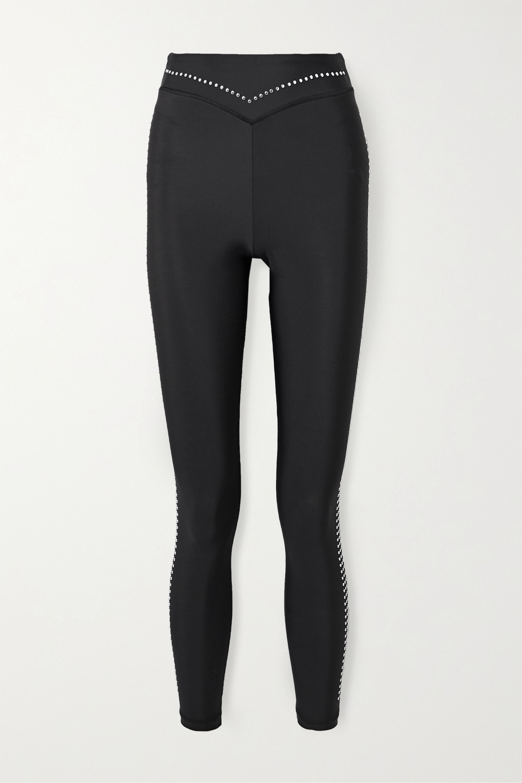 Adam Selman Sport Studded stretch leggings