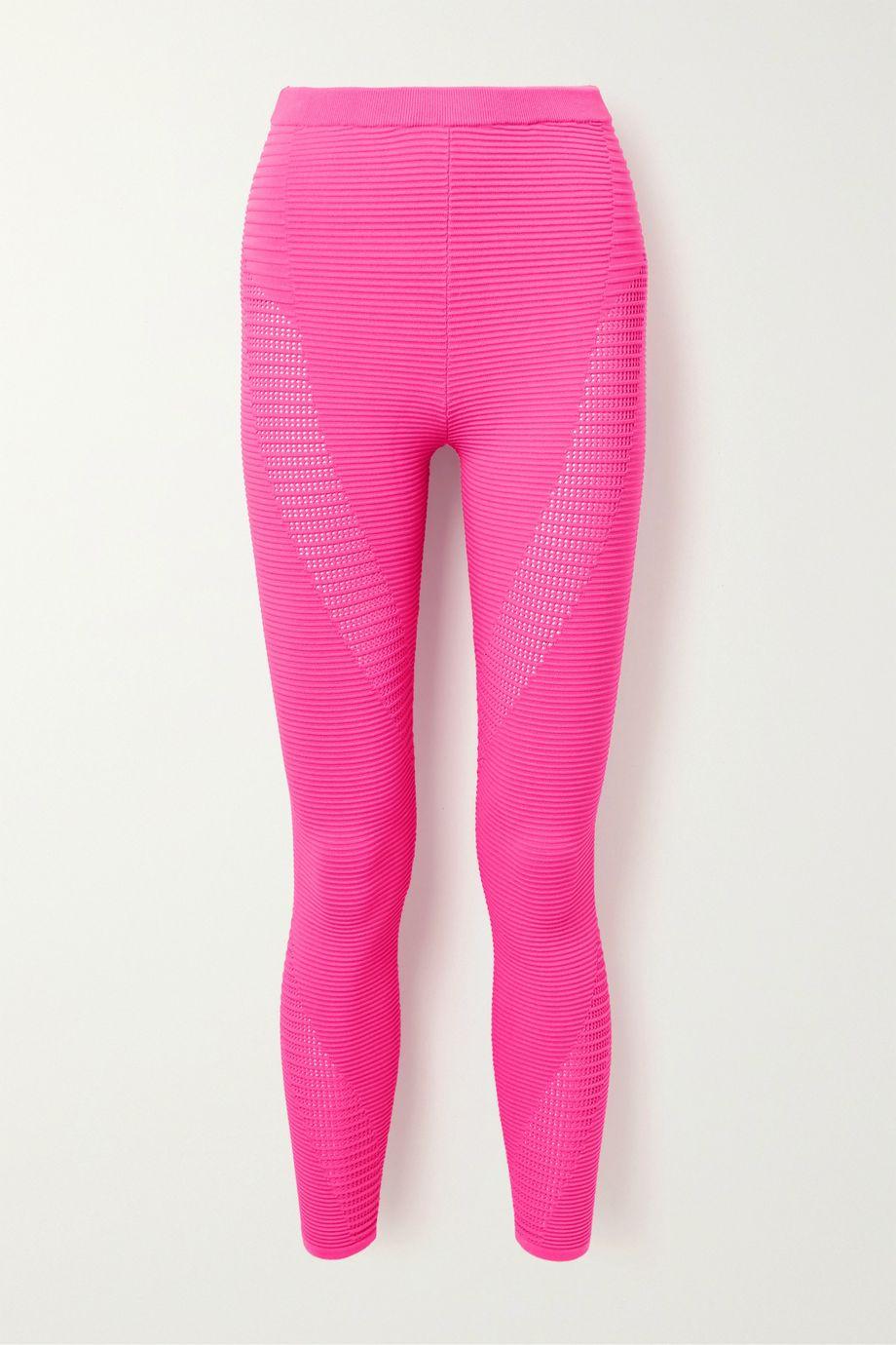 Adam Selman Sport Ribbed stretch-knit leggings