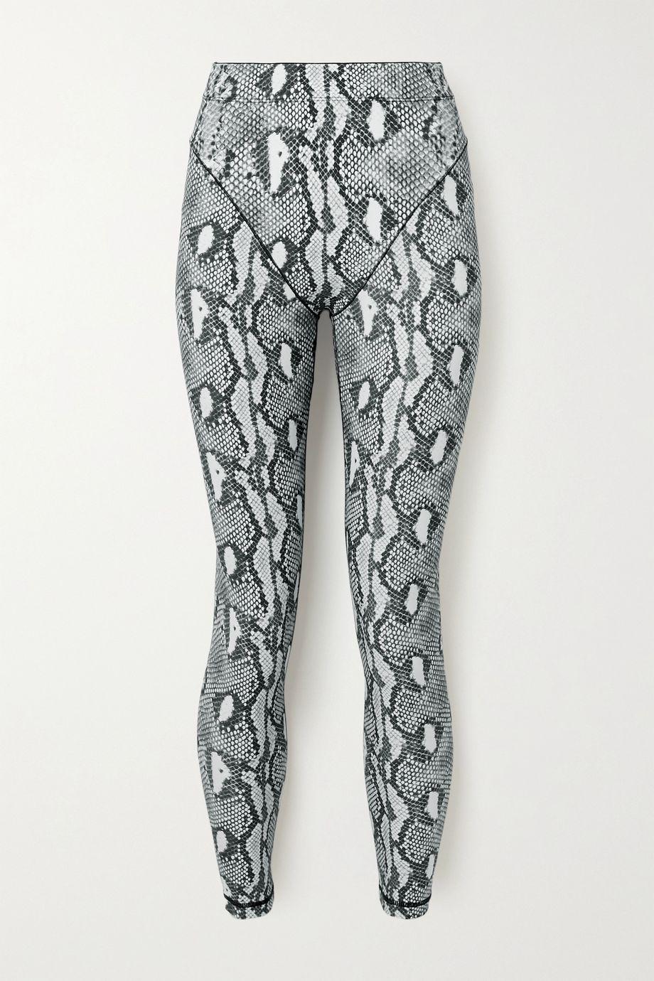Adam Selman Sport Snake-print stretch leggings