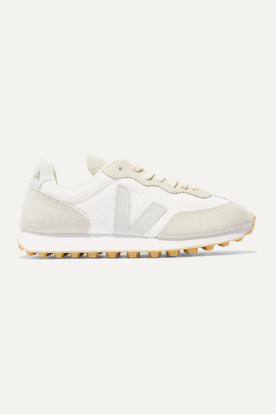 +-net-sustain-rio-branco-leather-trimmed-mesh-and-suede-sneakers by veja
