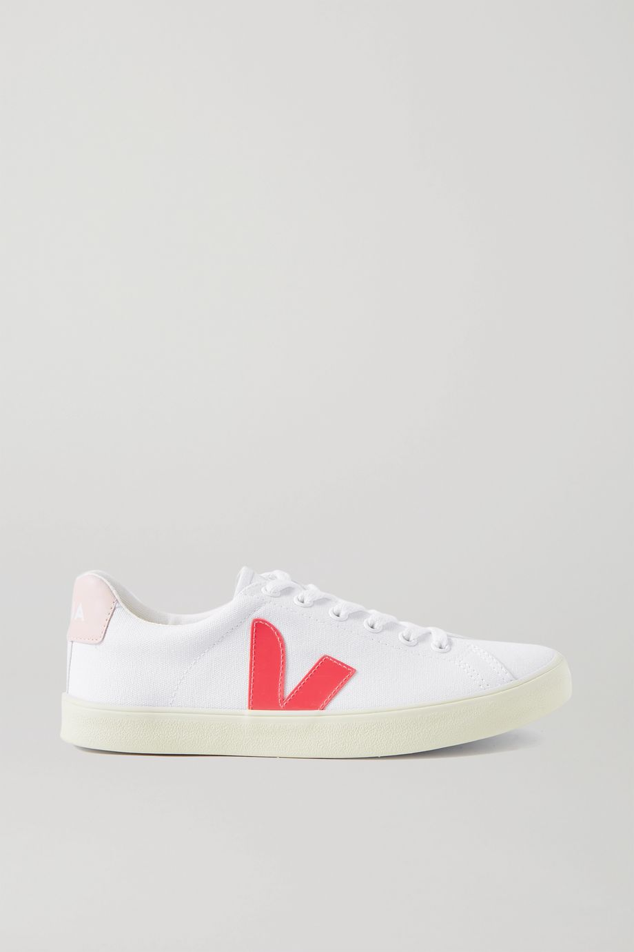 Veja Esplar rubber-trimmed organic cotton-canvas sneakers
