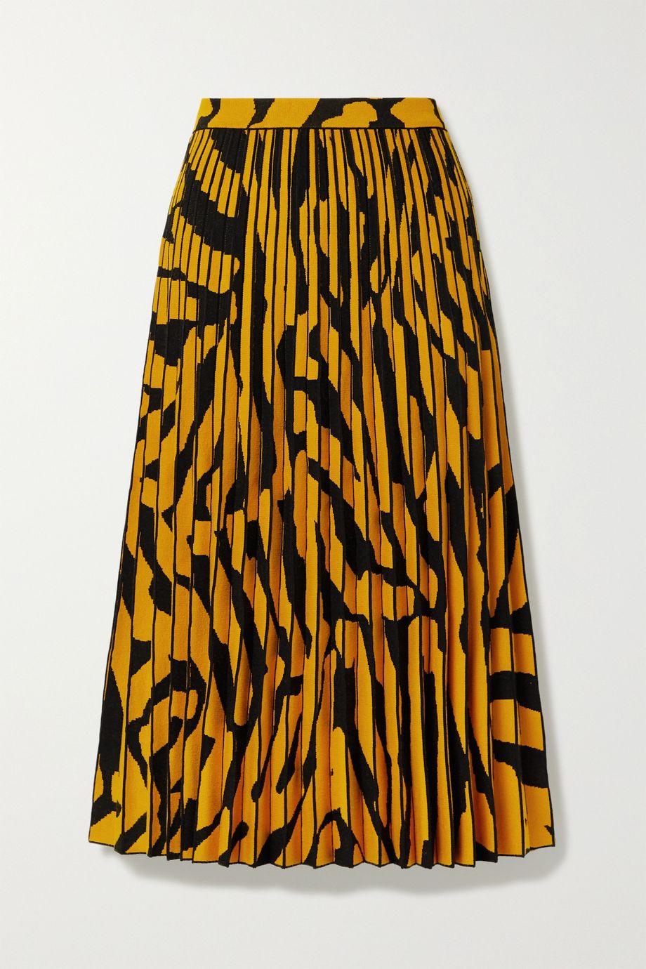 Proenza Schouler Pleated stretch jacquard-knit midi skirt