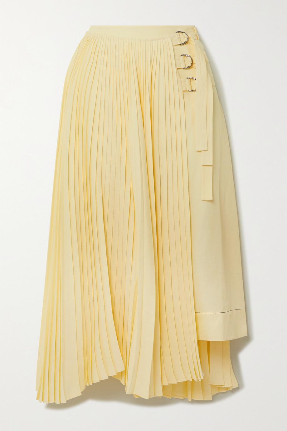 Proenza Schouler Asymmetric pleated woven wrap skirt