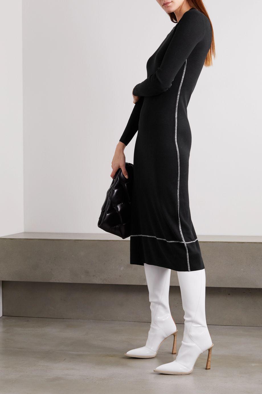 Proenza Schouler Striped silk-blend midi dress
