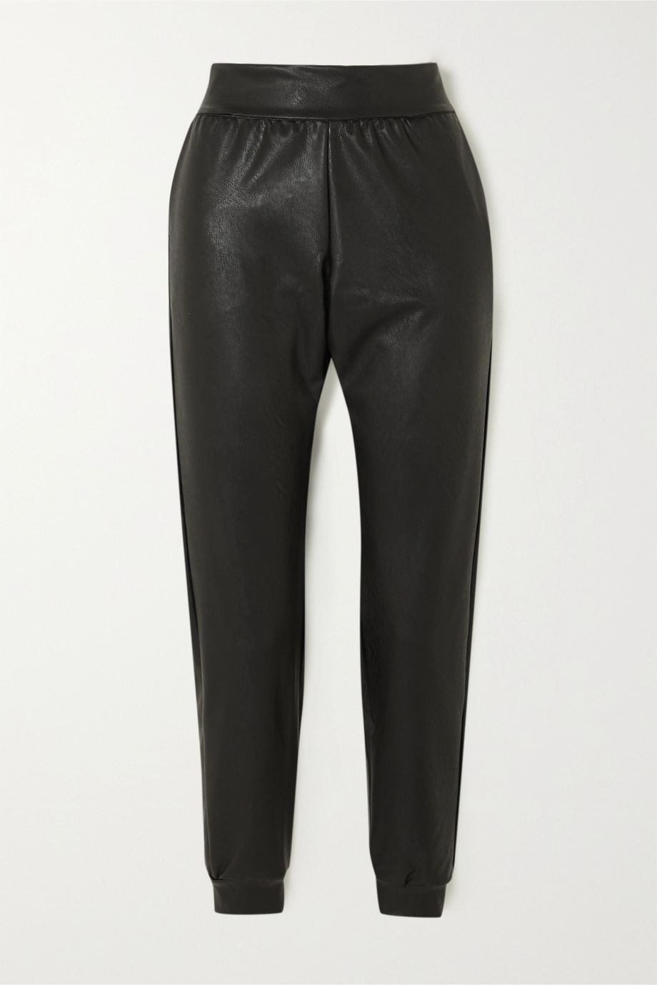 Commando Faux leather tapered track pants