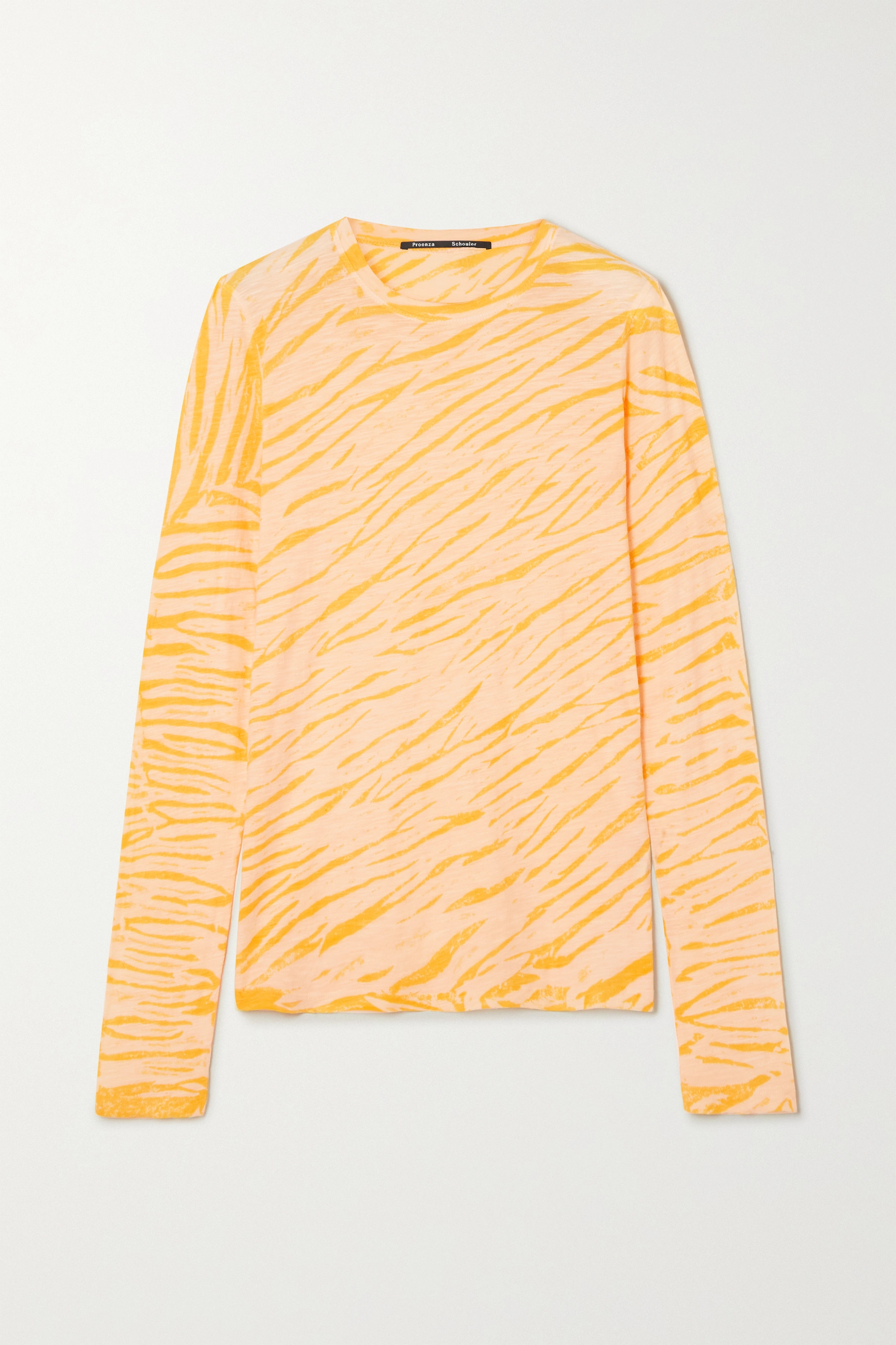 Proenza Schouler Tiger-print tie-dyed cotton-jersey top