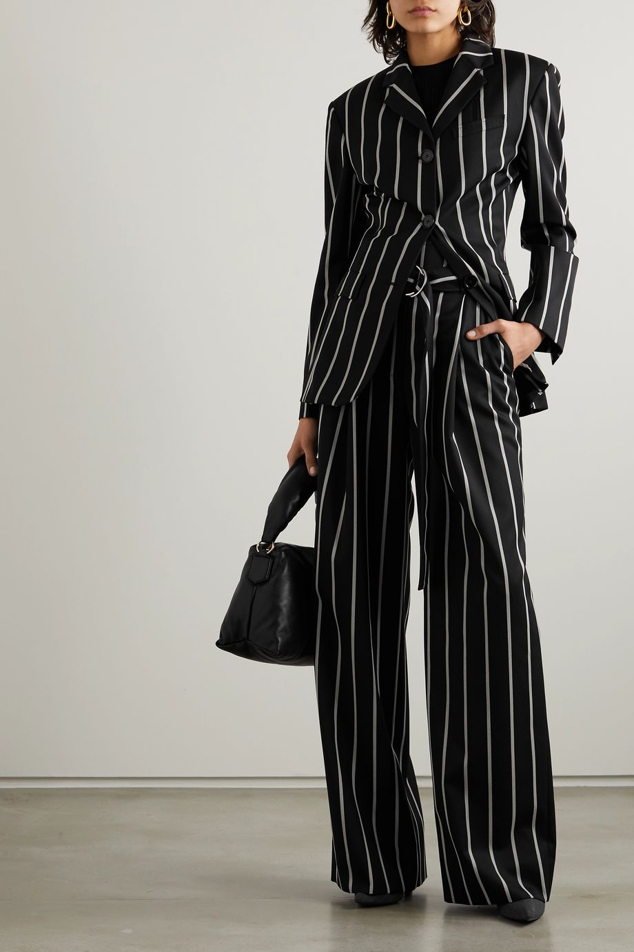 Proenza Schouler Striped twill blazer